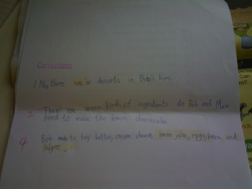 Primary School Examination Corrections