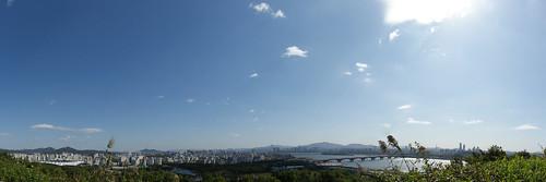 하늘 공원에서 본 한강, 월드컵 공원 (Hangang river, Worldcup Park from Sky Park)