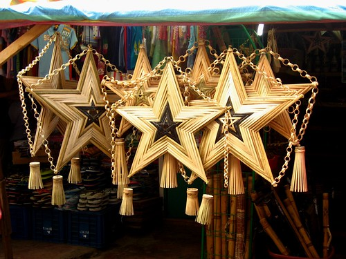 wooden star lanterns