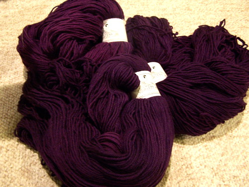 purple tess superwash merino