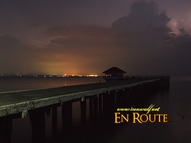 Stormy twilight at the North Dock