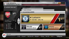 EA SPORTS Football Club: Hub leaderboards