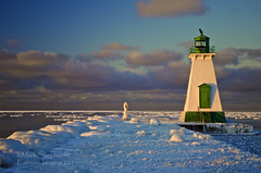 Port Dalhousie Lighthouse 0066 - 1200 (Mark Shephard) Tags: winter sunset ontario canada lakeontario stcatherines portdalhousie