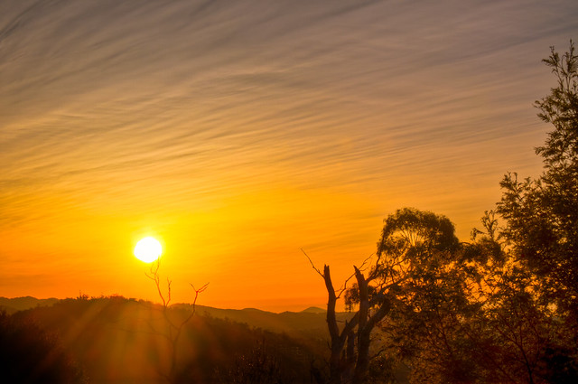 Tamar Valley sunset with volcanic ash cloud 2