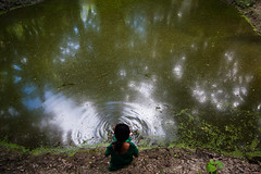 Dream on (Catch the dream) Tags: light reflection water children pond solitude waves village ripple rustic dream wave jungle shade dreams ripples solitary shady bangladesh subconcious dreamon kuakata ruralbangladesh reflectionoflight