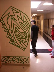 E Cubed (Tape Art - Education and works in progress.) Tags: street new york city nyc blue original urban green art oklahoma apple scale lines silhouette wall hospital project island hope james michael mac community education university jay outdoor drawing large murals indoor mercer providence business prison tape works conference teaching projects schools okc collaborative temporary rhode healing residency healthcare risd townsend hallways masking psychiatric hasbro tapeart teamwork flexible collaborate worcesterartmuseum publicartists zehngebot trummerkind ecubed