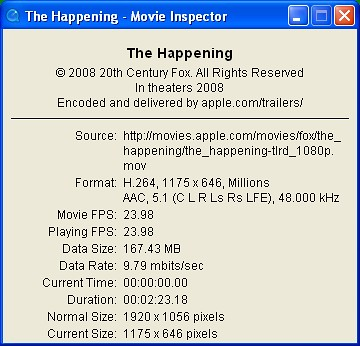 The Happening: Apple Trailer at 1080p HD