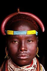 Karo (Nomadic f-stops) Tags: africa woman omovalley ethiopia karo tumi tribalwoman ethnicwoman omoriverregion karowoman karoportrait