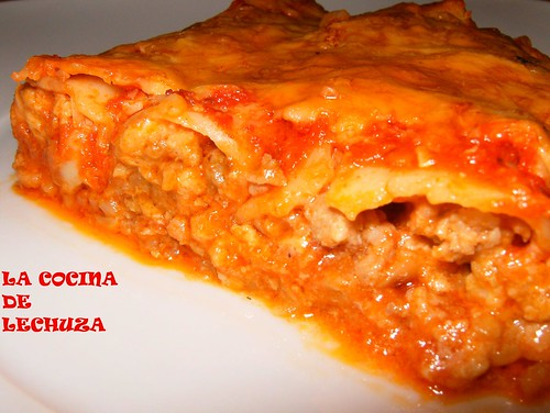 Canelones carne tomate cerca