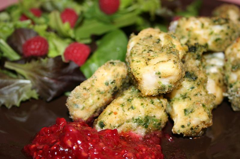 Cotolette di pesce spada con salsa ai lamponi 005
