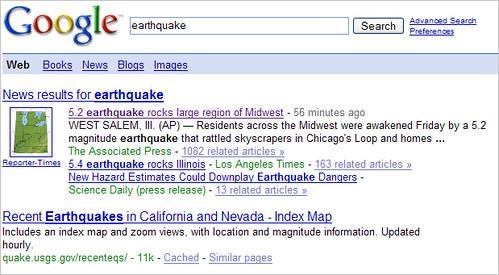 Google Quake Results