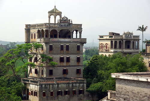 Kaiping diaolou in Zili Village