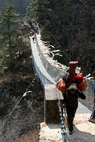 Steel Bridges of Everest Base Camp Trek by ilkerender.