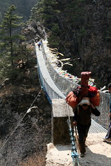 Steel Bridges of Everest Base Camp Trek (ilkerender) Tags: nepal mountain trekking trek high creativecommons kathmandu everest sherpa ebc lukla namchebazar stockphoto highaltitude basecamp ender mounteverest everestbasecamptrek ilker everestbasecamp ilkerender
