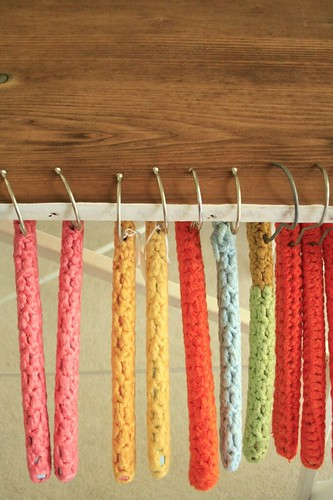 vintage covered hangers