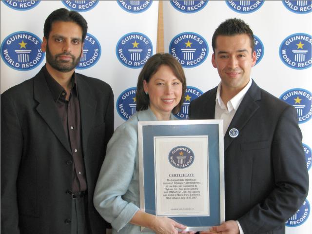 Sybase és Sun Guinness rekord