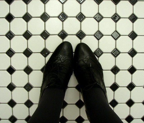 Black And White Tile Bathroom. and black and white tile in