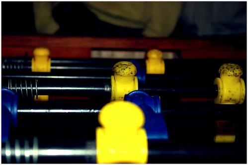 blue yellow table football flash
