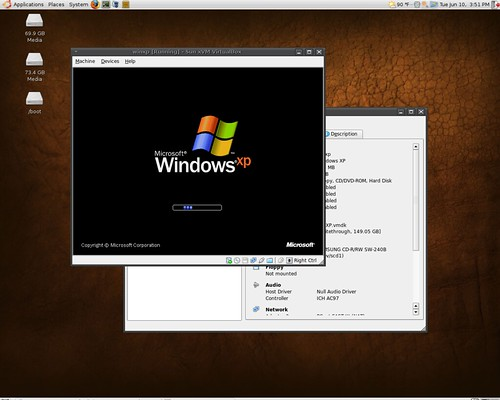 Windows XP in Ubuntu 8.04 Hardy Heron via VirtualBox