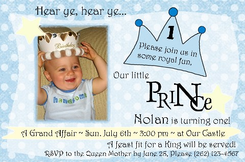 Nolan Little Prince 1st birthday invitation. amyscustomgreetings.com