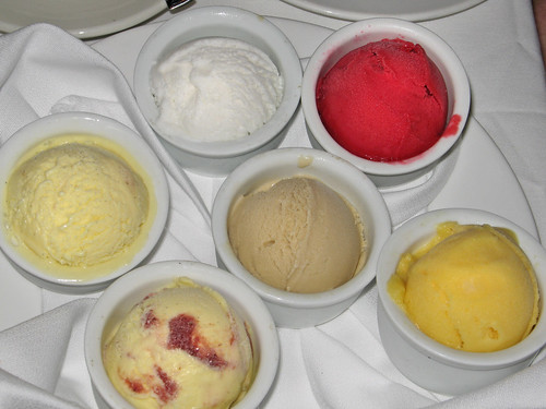 Trio of Sorbets,  Trio of Ice Creams