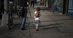 Walking Monkey Boy (Runs With Scissors) Tags: nyc newyorkcity chelsea lightroom monkeybag childleash boyonaleash childonaleash whoknewthesethingswerestilloutthere