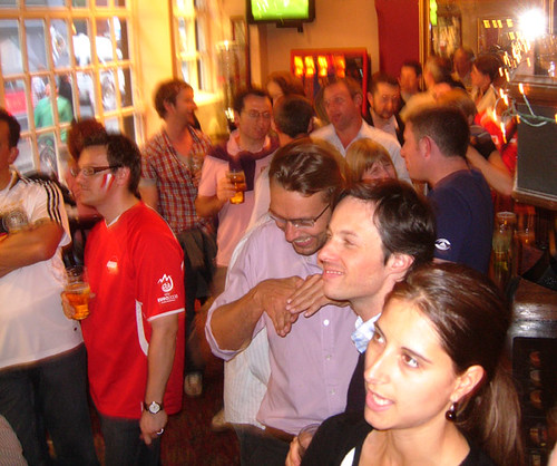Austrian football fans, London