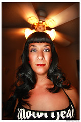 .empyre. (.SANCHEZ.) Tags: portrait people woman motion face photoshop canon religious weird interesting intense eyes eyecontact colorful glow shine sandiego skin erin vibrant perspective angles halo curls headshot symmetry holy odd rockabilly jpg beneath connection ceilingfan silky sanchez motorhead mesmerize hipnotize 40d kennysanchez kennysanchezcom