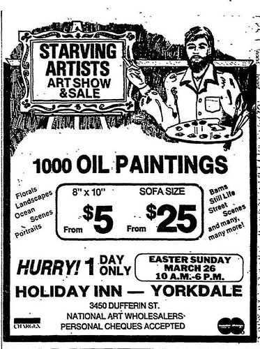Vintage Ad #566: Starving Artists!
