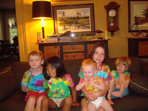 Tie-dyed cousins