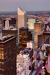 observation deck (Tony Shi Photos) Tags: new york city nyc people ny rock town top center deck rockefeller mid hdr  obervation    thnhphnewyork