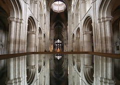 Ely Cathedral - Mirror image (Heaven`s Gate (John)) Tags: uk england reflection art history church topf25 stone architecture wow mirror arch cathedral nave mirrorimage romanesque reflexions cambridgeshire octagon elycathedral elegance clerestory 100faves 10faves theotherboleyngirl 25faves johndalkin heavensgatejohn p1f1 theunforgettablepictures elizabeththegoldenage theperfectphotographer goldstaraward theshipofthefens