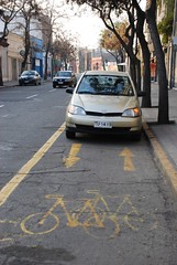 good neighbor/ buen vecino (bearshapedsphere) Tags: bikepath parking ciclovia santiagochile inslito malestacionado