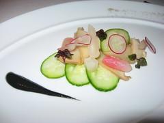 Per Se: Salad of braised abalone mushroom (close up)