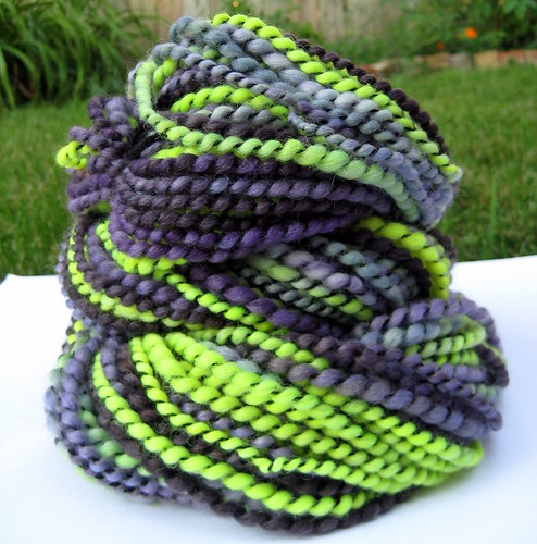 monster mash handspun yarn