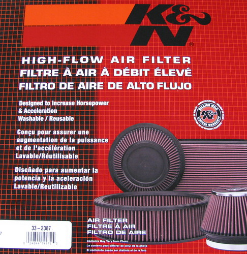 K and N air filter saves gas.