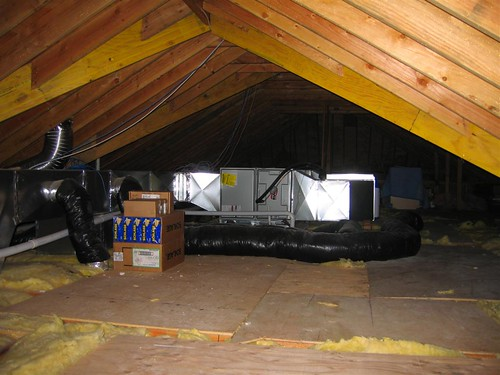 Inside the attic