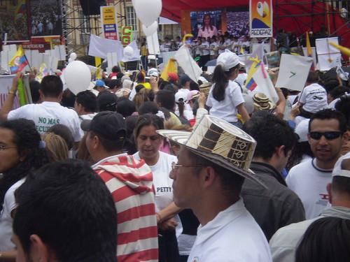 Marcha 20 de julio - Tarima Plaza de Bolívar
