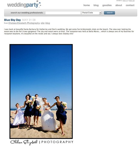 Featured in Wedding Party Blog