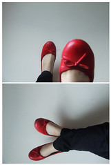 black  & red (miss sundress) Tags: red black skinny diptych shoes pumps jeans