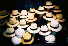 hats (slimmer_jimmer) Tags: uk london shop xpro crossprocessed hats shopwindow jermynstreet agfaprecisa100 boaters strawhats panamahats summerhats