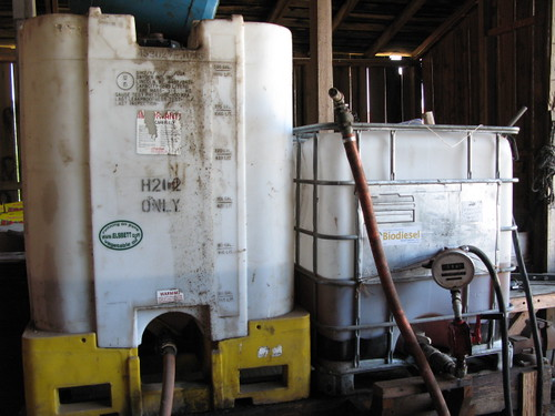 The biodiesel system at Blue House Farm