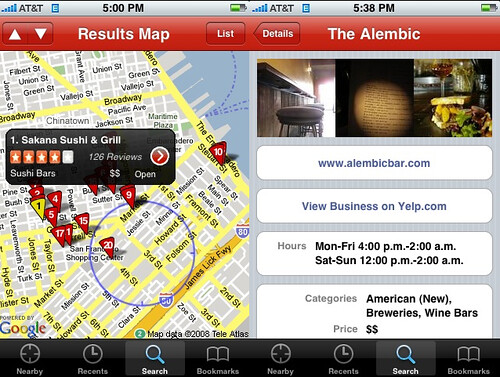 Yelp 2.0 for the iPhone 2