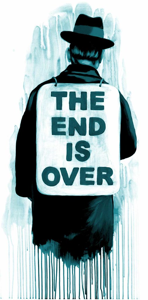 the end is over screen print