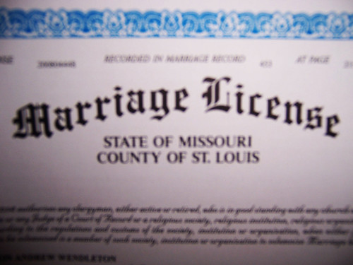Our Marriage License