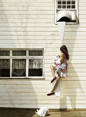 Leaving Home (Nika Fadul) Tags: windows home girl wall leaving shadows dress free away running scape lenol fugindo pelajanela trouxa overtheexcellence mnicafadul nikafadul queridinhasdanika