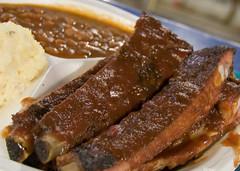 pork rib plate from jr's bbq (Joits) Tags: food bbq potatosalad ribs barbeque bakedbeans culvercity jrsbbq porkribs socalexploration jrsbarbeque