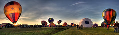 Adirondack Balloon Fest Panorama (no3rdw) Tags: panorama hot festival airport colorful air balloon adirondacks panoramic hotairballoon 2008 hdr adirondack queensbury