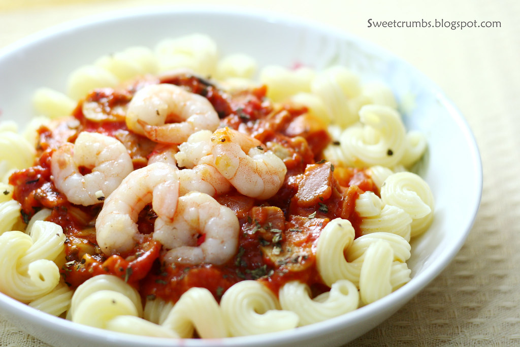 Ham and Shrimp Pasta