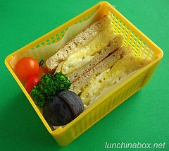 Egg muffin sandwich lunch for preschooler